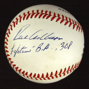Richie%20Ashburn%20single%20signed%20baseball%20with%20Batting%20Average%20inscription