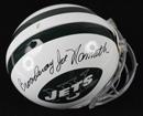 """Broadway"" Joe Namath Signed New York Jets ProLine Helmet"