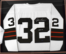 *Jim Brown Signed Mitchell & Ness Cleveland Browns Jersey (framed)