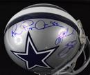 """Triplets"" Signed Dallas Cowboys ProLine Helmet"