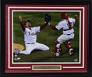 "Carlos Ruiz & Brad Lidge Signed 2008 World Series Celebration 16""x20"" Photo (framed)"