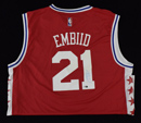Joel Embiid Signed 76ers Adidas Jersey (XL)
