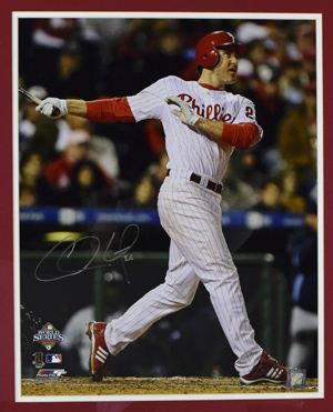 Chase%20Utley%20Signed%2016%22x20%22%20Photograph%20%28framed%29