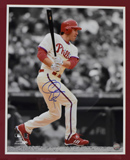 "Chase Utley Signed 16""x20"" Photograph (framed)"