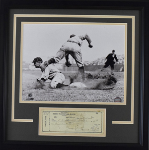 Ty%20Cobb%20Signed%20Check%20Display%20%28framed%29