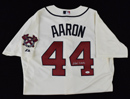 Hank Aaron Signed Braves Majestic Authentic Collection Jersey