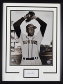 Satchel Paige Cut Autograph Display (framed)