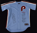 Limited Edition 1980 Philadelphia Phillies Team Signed Majestic Jersey (framed)