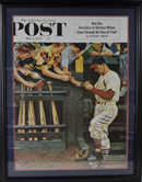 Large Stan Musial Signed Saturday Evening Post Print (framed)