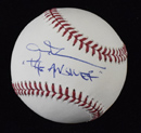 "Allen Iverson Signed Baseball Inscribed ""The Answer"""