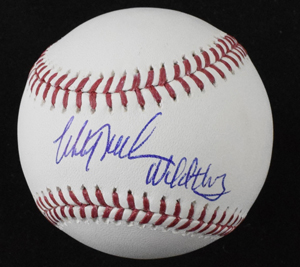 Mitch%20Williams%20signed%20baseball%20inscribed%20%22Wild%20Thing%22