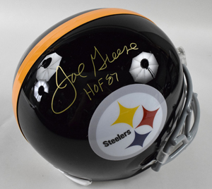 Joe%20Greene%20Signed%20Pittsburgh%20Steelers%20Replica%20Helmet%20Inscribed%20%22HOF%2087%22