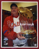 "Charlie Manuel Signed 16""x20"" Photograph (framed)"