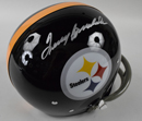 "*Terry Bradshaw Signed Pittsburgh Steelers ""Throwback"" Replica Helmet"