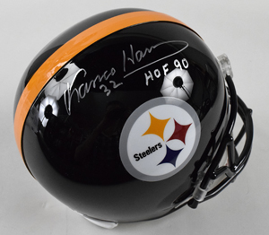 %2AFranco%20Harris%20Signed%20Pittsburgh%20Steelers%20Replica%20Helmet%20Inscribed%20%22HOF%2090%22