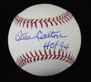 Steve%20Carlton%20Signed%20Baseball%20Inscribed%20%22HOF%2094%22