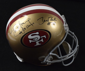 %2ASteve%20Young%20%26%20Jerry%20Rice%20Signed%20San%20Francisco%2049ers%20Replica%20Helmet