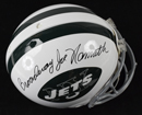"""Broadway"" Joe Namath Signed New York Jets ProLine Helmet"
