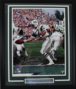 Joe%20Namath%20Signed%2016%22x20%22%20SB%20III%20Photograph%20%28framed%29
