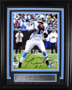 Cam%20Newton%20Signed%208%22x10%22%20Photograph%20%28framed%29