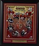 """*San Francisco 49'ers HOFers Signed 16""""x20"""" Photo (framed)"""