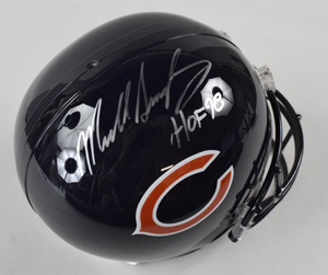 %2AMike%20Singletary%20Signed%20Chicago%20Bears%20Replica%20Helmet%20Inscribed%20%22HOF%2098%22