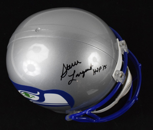 %2ASteve%20Largent%20Signed%20Seattle%20Seahawks%20Replica%20Helmet%20Inscribed%20%22HOF%2095%22