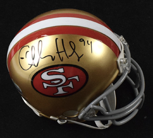 Charles%20Haley%20Signed%20San%20Francisco%2049ers%20Mini%20Helmet