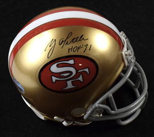 Y%2EA%2E%20Tittle%20Signed%20San%20Francisco%2049ers%20Mini%20Helmet