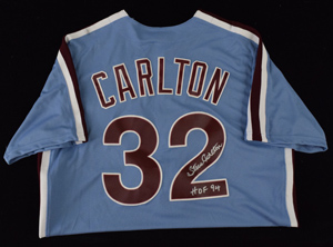 Steve%20Carlton%20Signed%20Majestic%20Jersey%20Inscribed%20%22HOF%2094%22