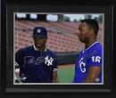 Deion Sanders & Bo Jackson Signed 16x20 Photo (framed)