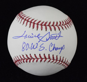 Lonnie%20Smith%20Signed%20Baseball%20Inscribed%20%2280%20WS%20Champs%22