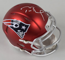 Tom Brady Signed New England Patriots Blaze Revolution Speed Mini Helmet