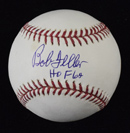 "Bob Feller Signed Baseball Inscribed ""HOF 62"""
