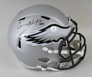 Carson%20Wentz%20Signed%20Philadelphia%20Eagles%20Blaze%20Revolution%20Speed%20Full%2DSize%20Replica%20Helmet